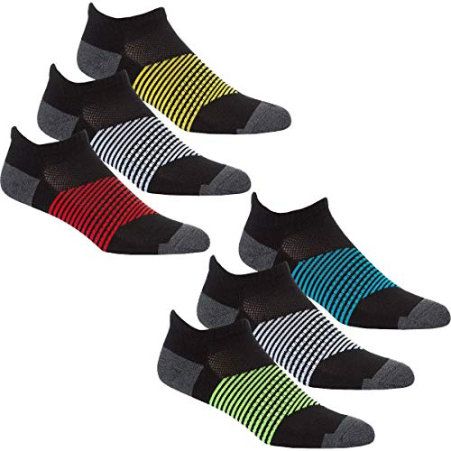 Style It Up - Calcetines cortos - para hombre Negro 6 Pack