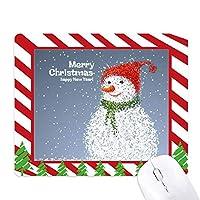 メリー・クリスマス雪だるま祭り ゴムクリスマスキャンディマウスパッド