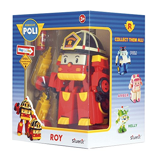 Rocco Giocattoli 83093 - Robocar Poli Roy Personaggio Trasformabile con Luci