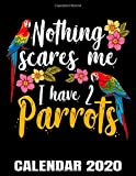 Nothing Scares Me I Have Two Parrots Calendar 2020: Cute Parrot Owner Calendar - Appointment Planner And Organizer Journal Notebook - Weekly - Monthly - Yearly
