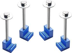DEWHEL Tool Box Tie Downs Aluminum J Hook Crossover Toolbox Pickup Pair (4 PCS, Blue)