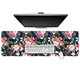 Cacoy Large Mouse Pad 47.2''x15.7'' XXL Long Desk Pads for Computer Extended Durable Stitched Edges Gaming Keyboard Mouse Mat for Game Office Home Use