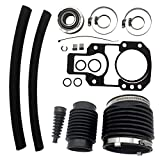 Transom Repair Kit Replacement For 30-803097T1 Fit for Alpha One Gen 1 Rebuilt kit (1972-1990) with Gimbal Bearing, Exhaust, u-Joint, Shift Bellows, Gasket, Water Hose Replaces Mercury Mercruiser Mari