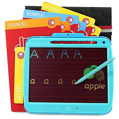 Gamenote LCD Writing Tablet 8,5 pollici per bambini con carte di attività di tracciamento e manicotto protettivo, pad di disegno ricaricabile bordo di scrittura per Toddlers Educational Learning Toys