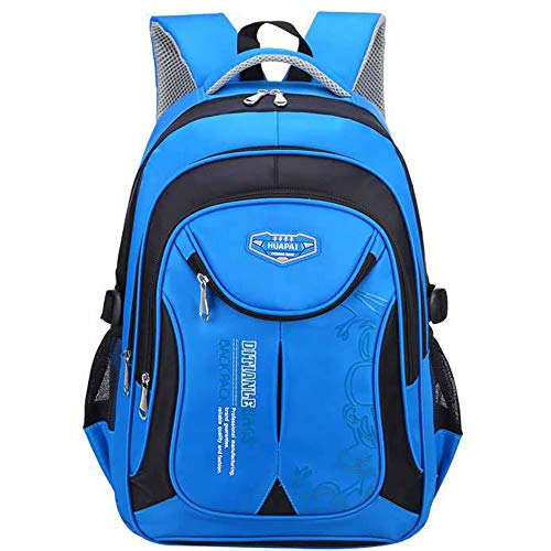 OuTrade School Backpack, Great for School, Casual Daypack Travel Outdoor Camouflage Backpack for Boys and Girls-Blue&Black