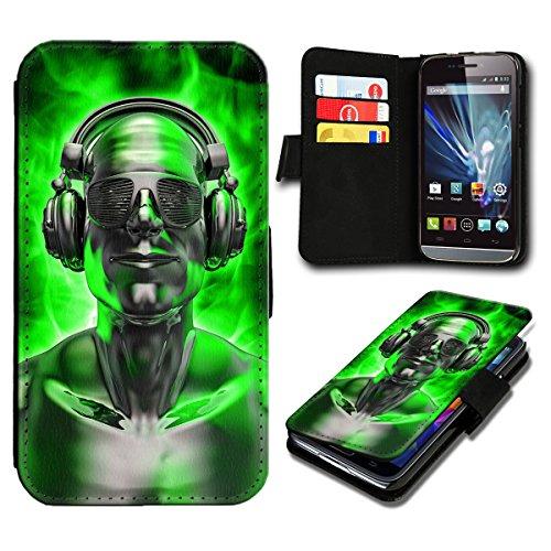 Book Style Huawei Ascend Y300 Premium PU-Leder Tasche Flip Brieftasche Handy Hülle mit Kartenfächer für Huawei Ascend Y300 - Design Flip SB281