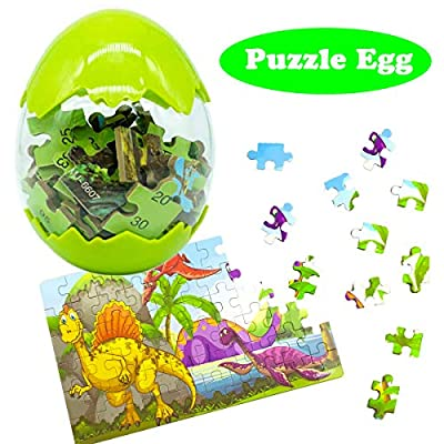 Jofan Dinosaur Jigsaw Puzzle Easter Eggs for Kids Boys Girls Easter Basket Stuffers Gifts
