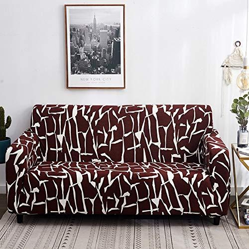 ASCV Blumendruck Elastische Sofabezüge für Wohnzimmer Sofa Handtuch rutschfeste Sofabezüge Dehnungssofa Schonbezug A2 1-Sitzer