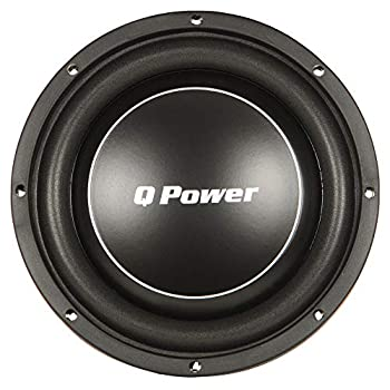 Q Power Deluxe 10 Inch Shallow Mount 1000 Watt Flat Car Subwoofer | QPF10-FLAT