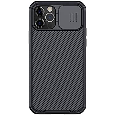 """Nillkin Case for Apple iPhone 12 / Apple iPhone 12 Pro (6.1"""" Inch) CamShield Pro Camera Close & Open Double Layered Protection TPU + PC Black Color"""