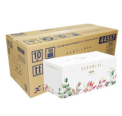 スマートマットライト 【ケース販売】 スコッティ カシミヤ ティシュー 440枚(220組) ボタニカルパッケージ ×10箱入り