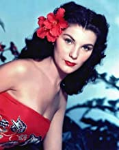 Bird of Paradise Debra Paget bare shouldered in tropical dress 16x20 Poster