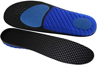 LASAR Insoles for Men & Women Provide All-Day Shock Absorption and Cushioning, Arch Support Orthotics Inserts Fit Work Boot,Walking,Running and Casual Shoes(Mens 8-10.5 and Womens 10-12.5)