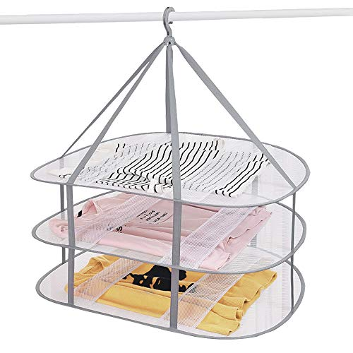 White with 3 prongs Mommys Helper 42980 Changing Lifestyles Safe-er-Grip Drip Dry Portable Drying Rack