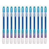 Bolígrafo Borrable Punta 0.7 mm –Bolígrafo de Tinta Borrable Recargable azul Paquete de 12 - Ezigoo - 9BL000