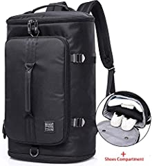 The backpack is made of very durable Oxford. It is water repellent. It is a multifunction and fashion travel laptop backpack.This 3 ways gym bag can be used as a Handbag, crossbody Bag and Backpack,designed for men and women. It has an extra free sho...