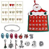 URHOMY クリスマスカウントダウンカレンダーブレスレットセットクリスマスカレンダーDIYブレスレットキット