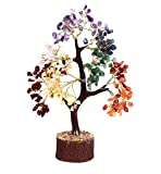 🌲This Beautiful Feng Shui Seven Chakra Natural Color Healing Gemstone Tree (Golden Wire) Size approx 10-12 Inch Handmade In India. A Gemstone tree is a tree with gemstones as the leaves and wires as the branches and the trunk and a piece of wood as a...