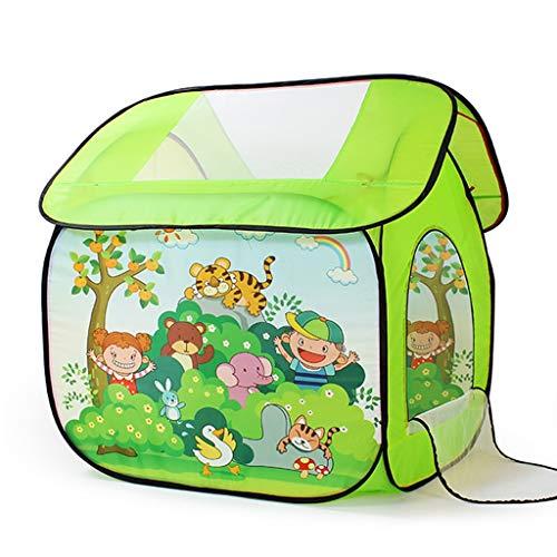 Tienda de niños Casa Pequeña Casa De Juguete Casa De Juegos para Niños Tienda Interior Princesa Niña Niño Plegable Al Aire Libre Espacio Cerrado con Cremallera (Color : Green, Size : 80 * 105 * 95cm)