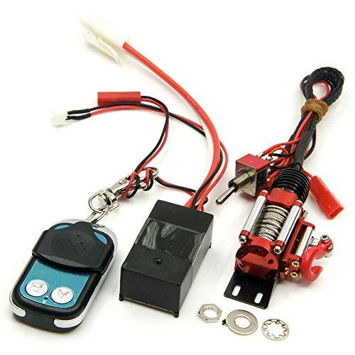 ZuoLan 1/10 Echelle Crawlers Voiture Plein Acier Métal Unité de Commande Filaire Treuil avec Récepteur de télécommande sans fil