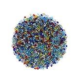 SUPVOX 0,44 Lb / 200g Perle in Vetro Perle Colorate Pietre di Cristallo per acquari Terrar...