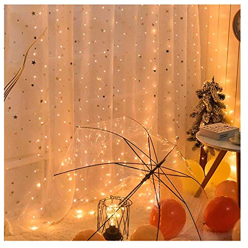Find Bargain gugs 200 LED Window Curtain String Light Wedding Party Home Garden Bedroom Outdoor Indo...