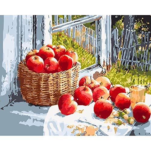Puzzle 1000 Pièces, Jouet En Bois Bricolage, Cadeau Unique, Décoration, Cadeau,Pomme Rouge 75X50Cm