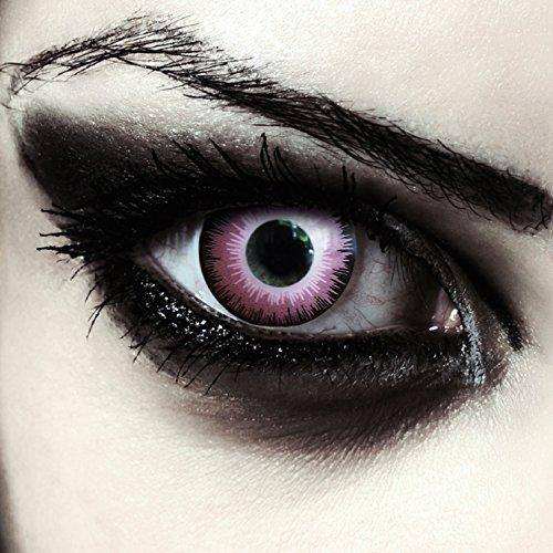 Designlenses Lenti a Contatto Colorate Rosa Elfo per Halloween, morbide, Non corrette Modello: Pink Elfe