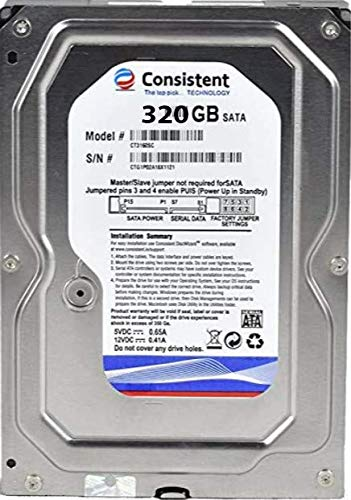 Consistent Hard Disk 320GB, Desktop with 2 Year Warranty