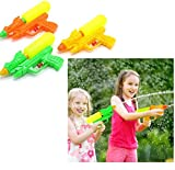 Dazzling Toys Water Gun Shooters Pack of 12 Water Blaster Shooters Assorted Multi Colored Durable Double Barreled Water Guns Summer Beach Pool Party Fun