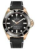 EDOX Skydiver 80115 BRZN NDR - Reloj de pulsera para hombre, diseño militar, color bronce