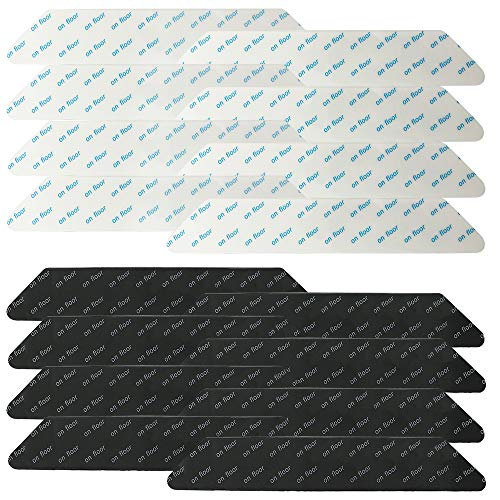 FineGood - Juego de 16 pinzas para alfombras, antideslizantes, antideslizantes, lavables y renovables, almohadillas antideslizantes para suelos de madera dura para interiores