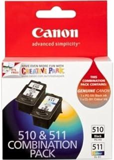 Canon PG510CL511CP Combo Pack (1 x PG510 Black & 1 x CL511 Colour)