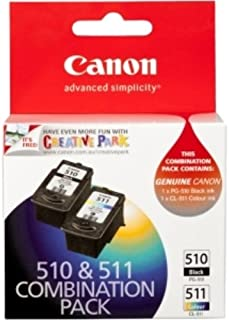 Canon PG510CL511CP Combo Pack (1 x PG510 Black & 1 x CL511 Colour)