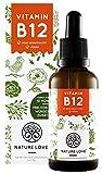 NATURE LOVE® Vitamin B12 Tropfen Vegan in 50ml (1700 Tropfen). Hochdosiert: 1000µg je Tagesdosis....