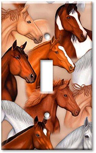 Art Plates - Dan's Horses Switch Plate - Single Toggle
