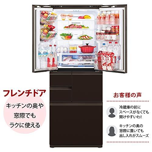 シャープSHARP冷蔵庫プラズマクラスター(幅68.5cm)502Lガラスドア/電動フレンチドア(観音開き)メガフリーザー6ドアグラデーションレッドSJ-AF50F-R