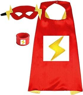Superhero Capes for Kids, Dress up Costumes-Satin Cape with Felt Mask and Bracelet (Spider-Man) …