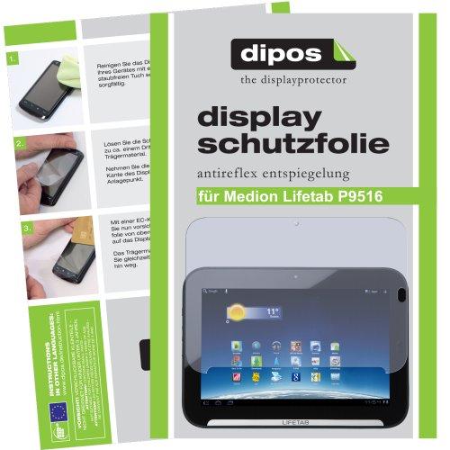 dipos I 2x Schutzfolie matt kompatibel mit Medion Lifetab P9516 Folie Bildschirmschutzfolie