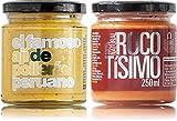 Ají de pollería y crema de rocoto   Pack Puro Perú   100% naturales   Sin aditivos ni conservantes   Sin gluten   Apto para veganos