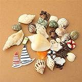 DIY Beach Mixed Seashells Mezcla de Conchas Marinas Artesanía Natural para Acuario Decoración de pecera Estilo mediterráneo para peceras y acuarios