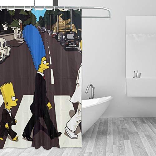BLACKbiubiubiu The Simpsons Duschvorhang, Bedruckt, wasserdicht, 152 x 183 cm