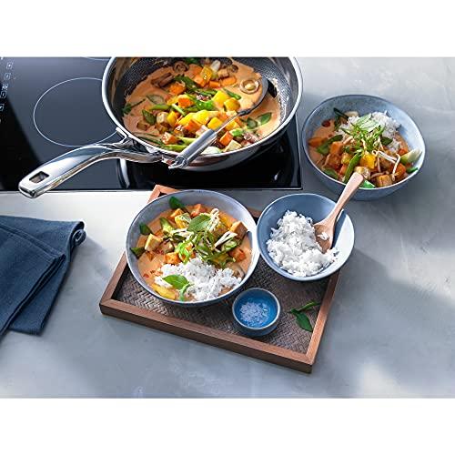 WMF Profi Resist - Wok 28 cm de acero cromado, con antiadherente recubierta, para todo tipo de cocinas incluido inducción