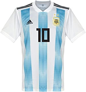 Argentina 2018-2019 Home Messi 10 Jersey Blue/White-Small