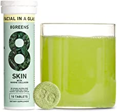 product image for 8Greens Skin + Marine Collagen for Beautiful Skin - Effervescent Super Greens Dietary Supplement - 8 Essential Healthy Real Greens in One (10 Tablets)