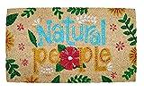 Felpudo de Coco Natural, felpudos Entrada casa, Alfombra Limpia Zapatos, Felpudo Exterior, Alfombra Entrada casa Interior, felpudos Originales y Divertidos, 40x70 (Natural People)
