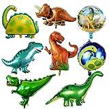Dokpav Globos de cumpleaños, 8pcs globos dinosaurios cumpleaños, Foil Balloons Globos, Globos de Helio Dinosaurios, Decoraciones de Fiesta para Cumpleaños Fiesta de Los Niños Bodas Navidad
