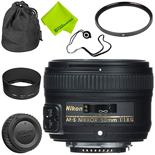 Nikon AF-S NIKKOR 50mm f/1.8G Lens Base Bundle