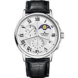 Edox Les Bemonts Reloj de Hombre Cuarzo Suizo 42mm Correa de Cuero 01651 3 AR