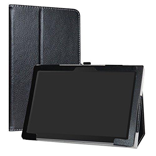 Lenovo Miix 630 Funda,LiuShan Folio Soporte PU Cuero con Funda Caso para 11.6' Lenovo Miix 630 Tablet,Negro